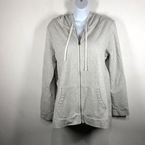 Eddie Bauer gray zip up hoodie size large